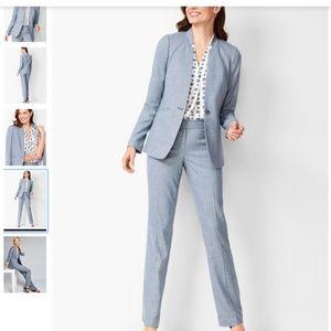 NWT Talbots Sharkskin Blue Suit Size 2